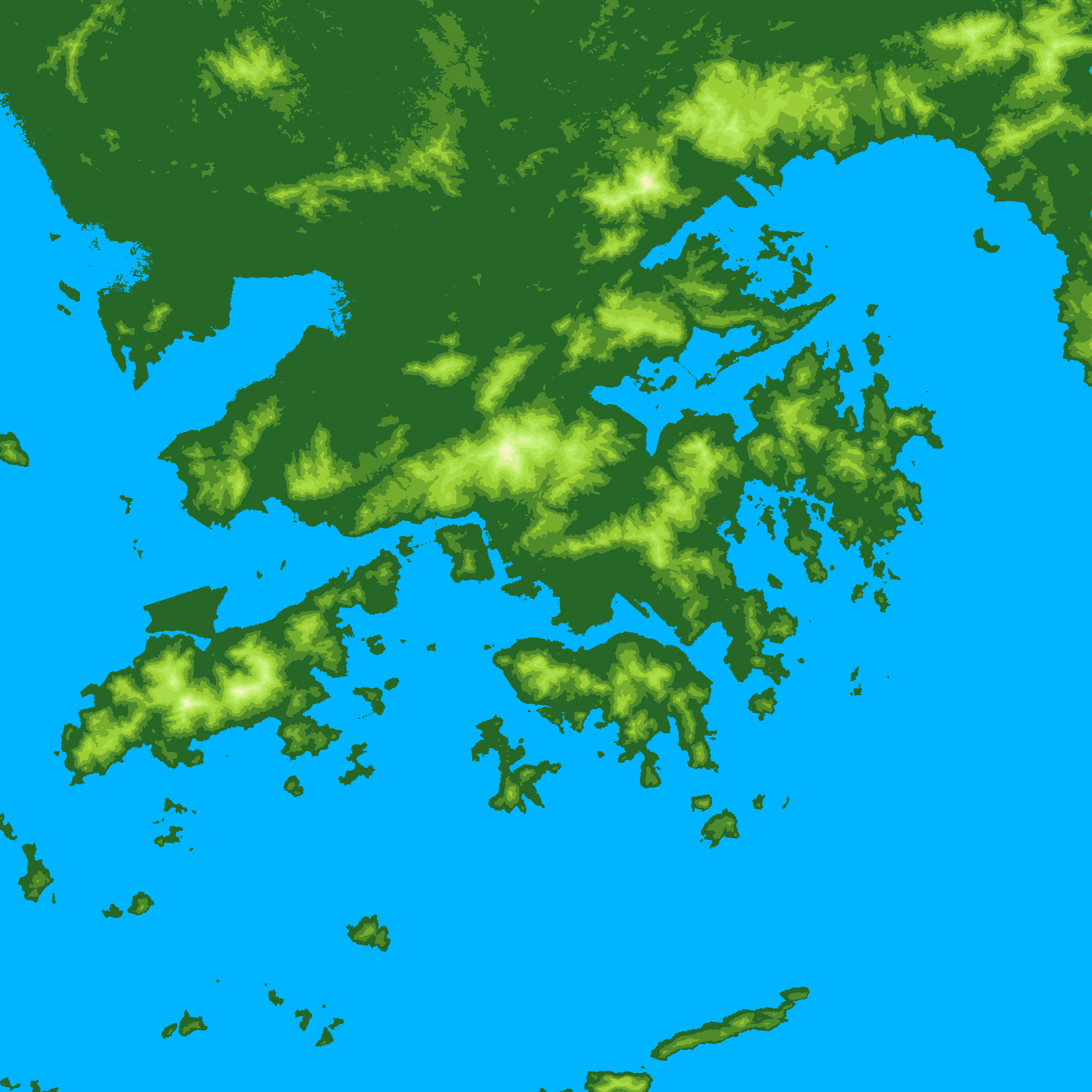 Terpng - Global terrain map